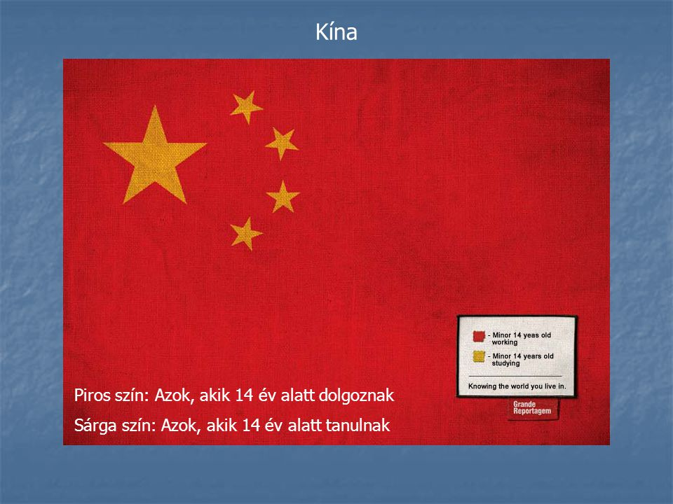 Kína Piros szín: Azok, akik 14 év alatt dolgoznak