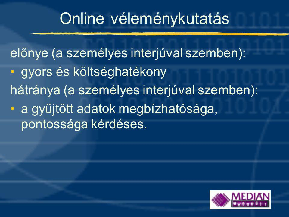 Online véleménykutatás