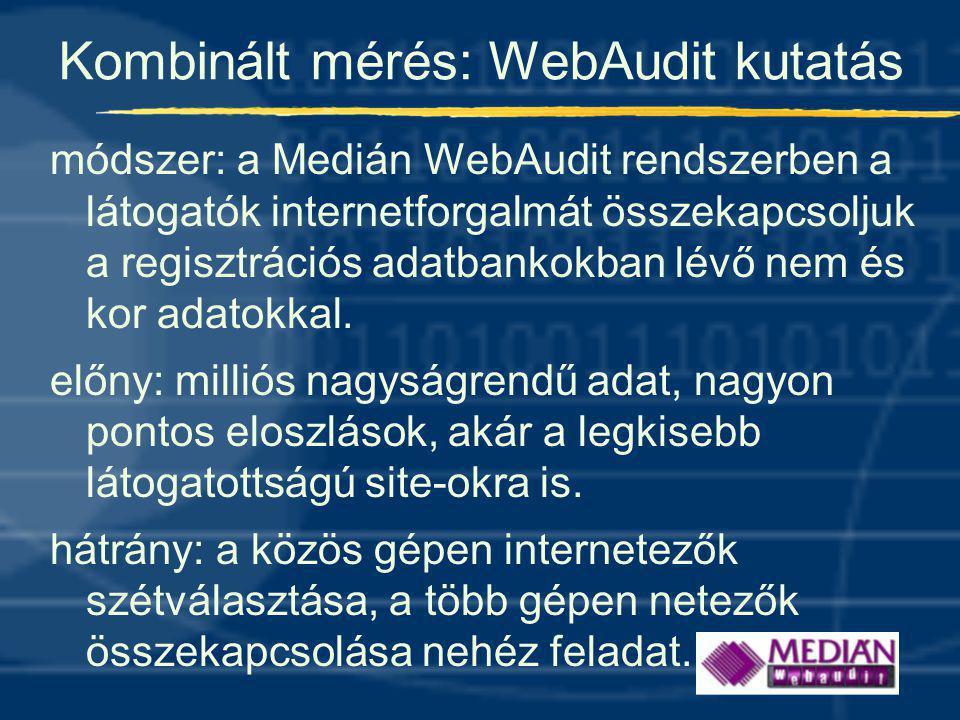 Kombinált mérés: WebAudit kutatás