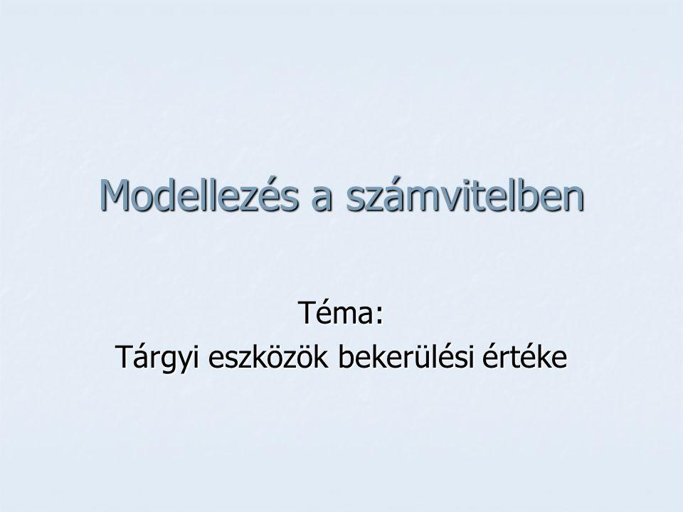 Modellezés a számvitelben