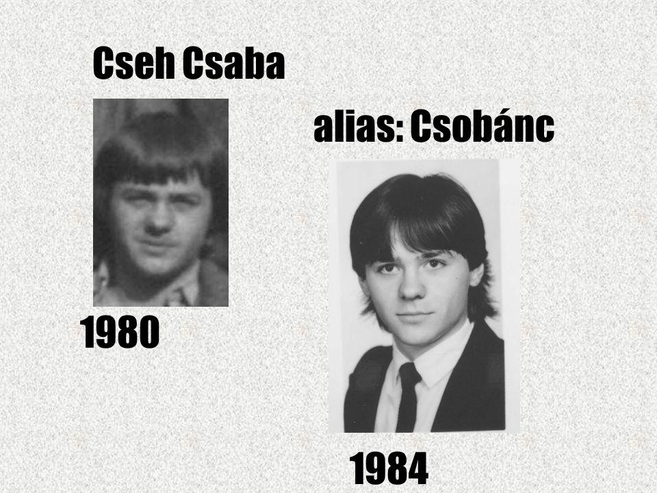 Cseh Csaba alias: Csobánc 1980 1984