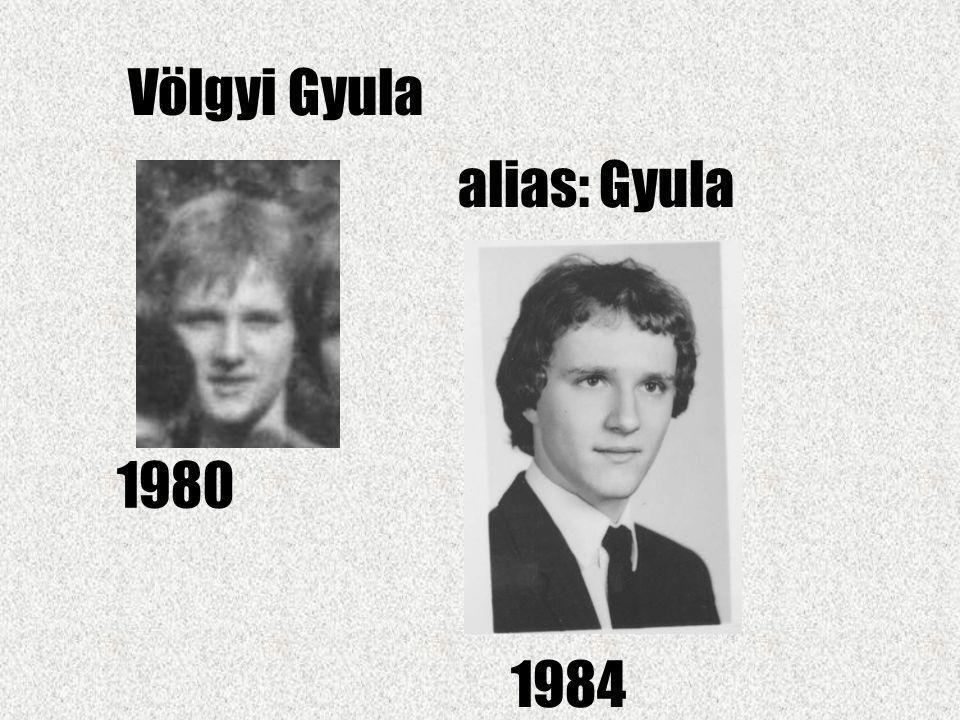Völgyi Gyula alias: Gyula 1980 1984