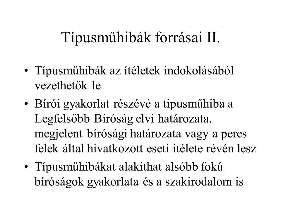 Típusműhibák forrásai II.