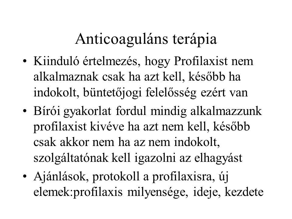 Anticoaguláns terápia
