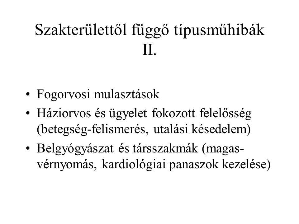 Szakterülettől függő típusműhibák II.