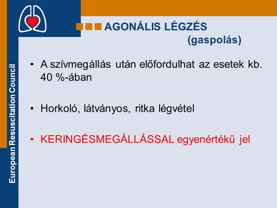 AGONÁLIS LÉGZÉS (gaspolás)