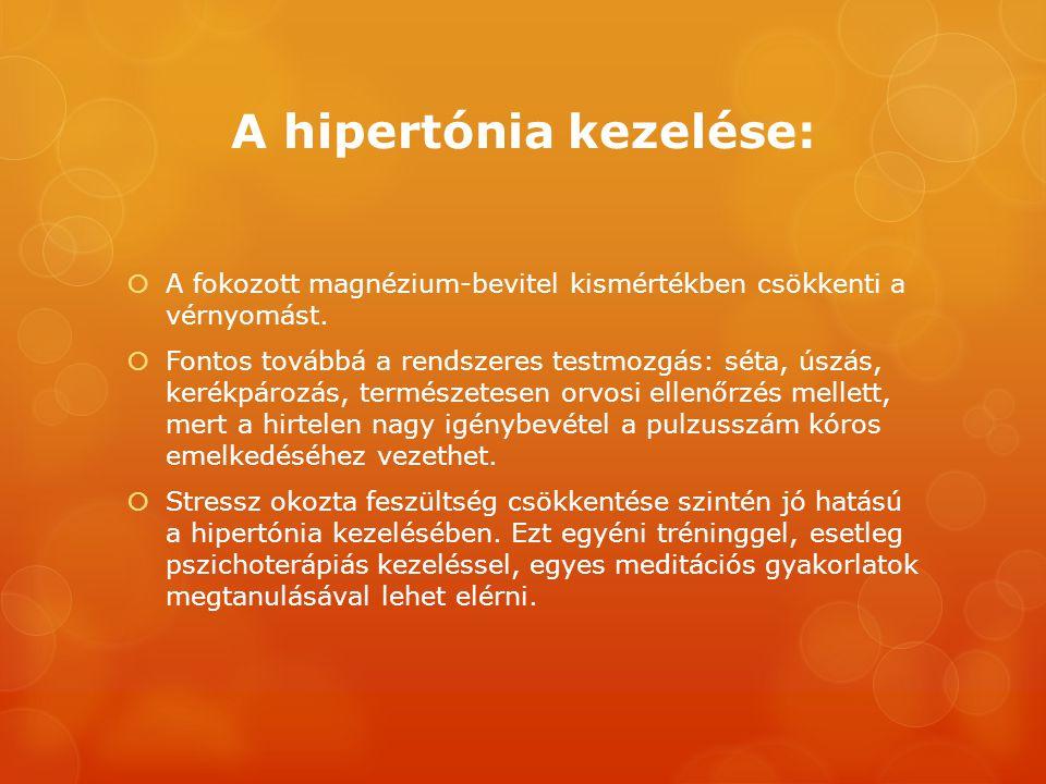 A hipertónia kezelése: