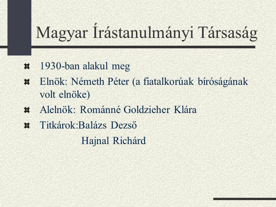 Magyar Írástanulmányi Társaság