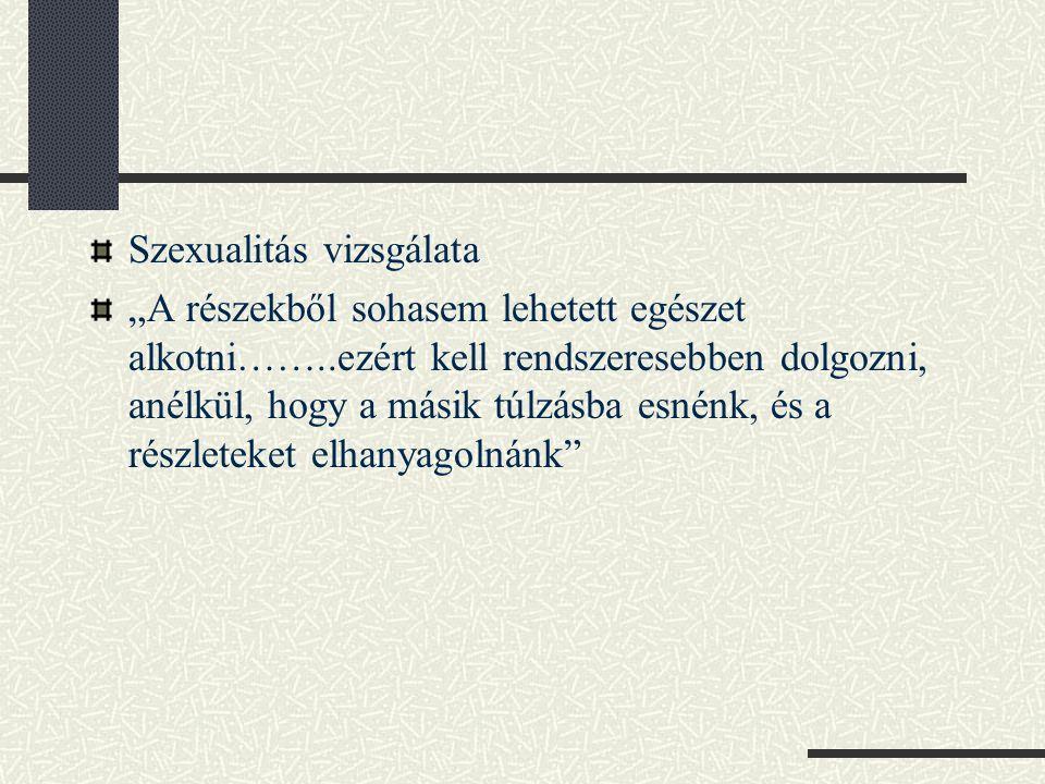 Szexualitás vizsgálata
