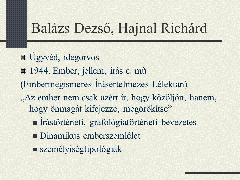 Balázs Dezső, Hajnal Richárd