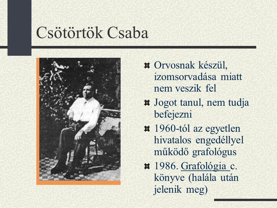 Csötörtök Csaba Orvosnak készül, izomsorvadása miatt nem veszik fel