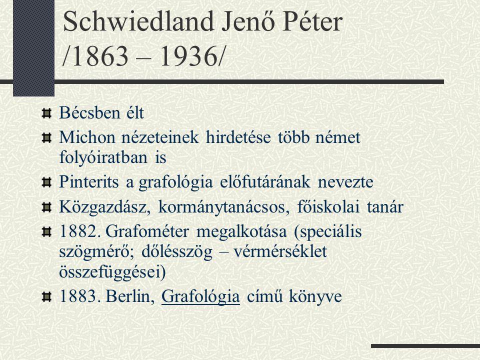 Schwiedland Jenő Péter /1863 – 1936/