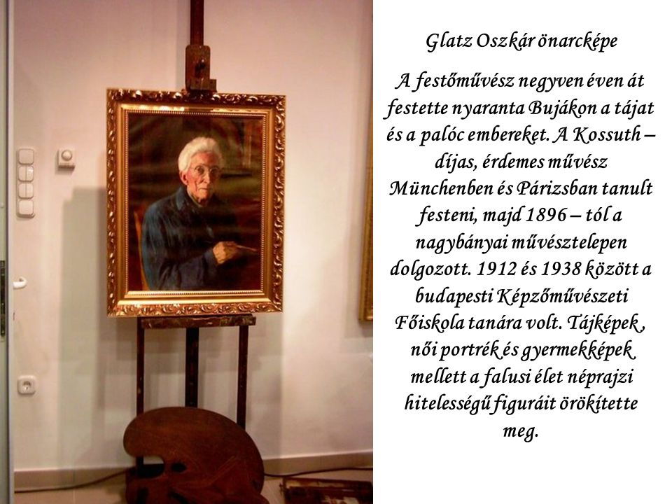 Glatz Oszkár önarcképe