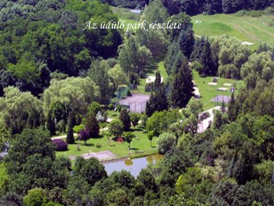 Az üdülő park részlete