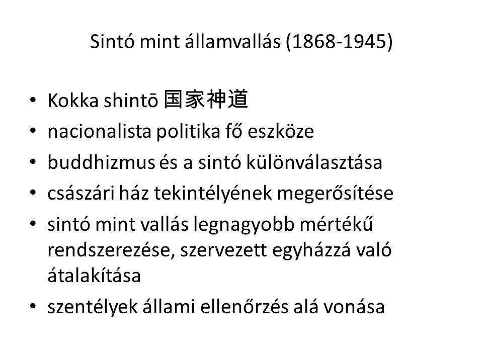 Sintó mint államvallás (1868-1945)