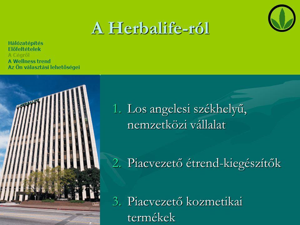 A Herbalife-ról Los angelesi székhelyű, nemzetközi vállalat