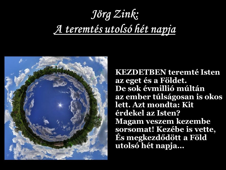 Jörg Zink: A teremtés utolsó hét napja