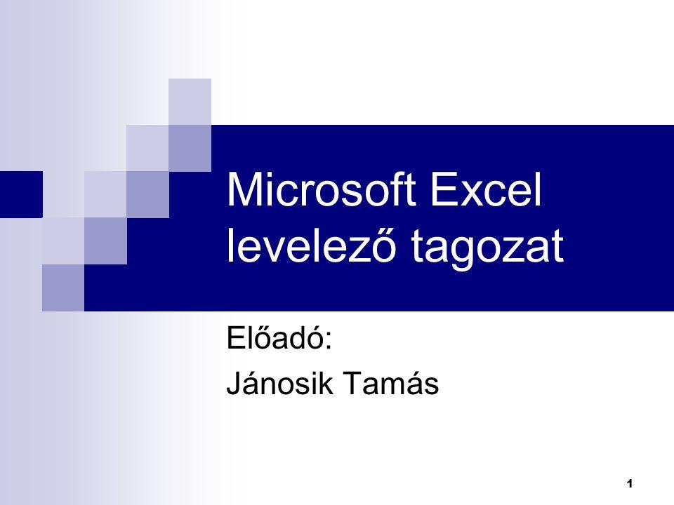 Microsoft Excel levelező tagozat