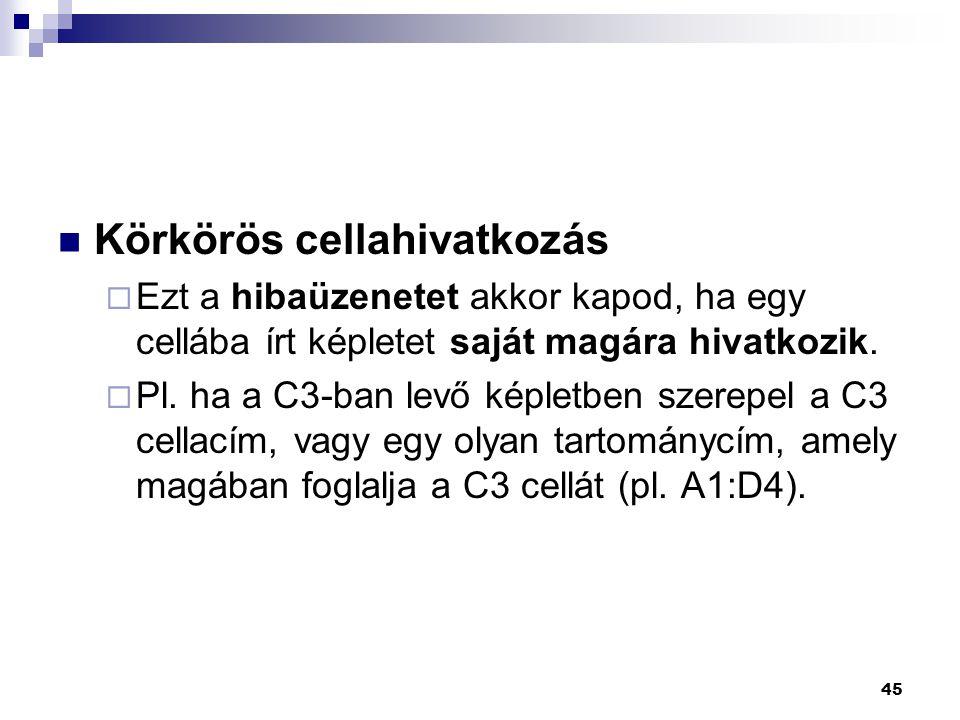 Körkörös cellahivatkozás