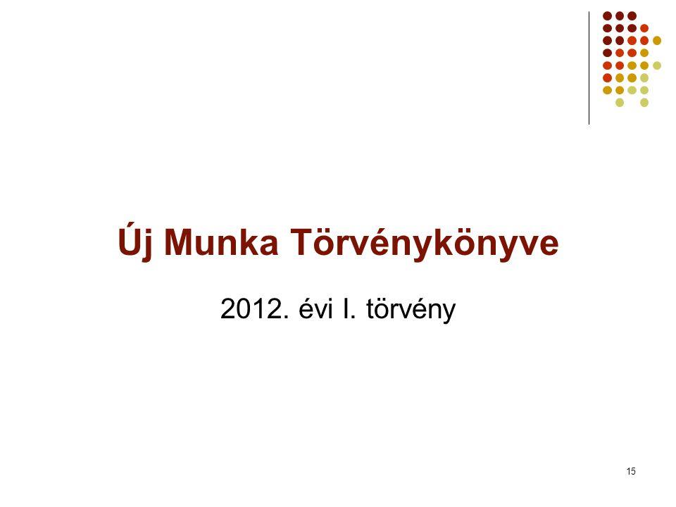 Új Munka Törvénykönyve