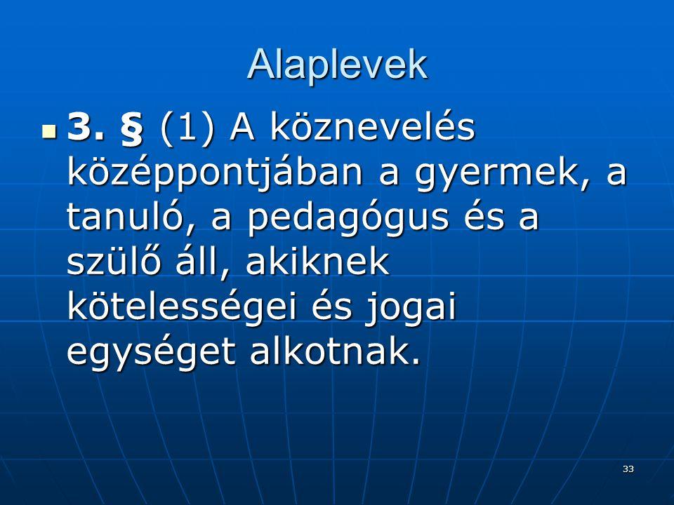 Alaplevek 3.
