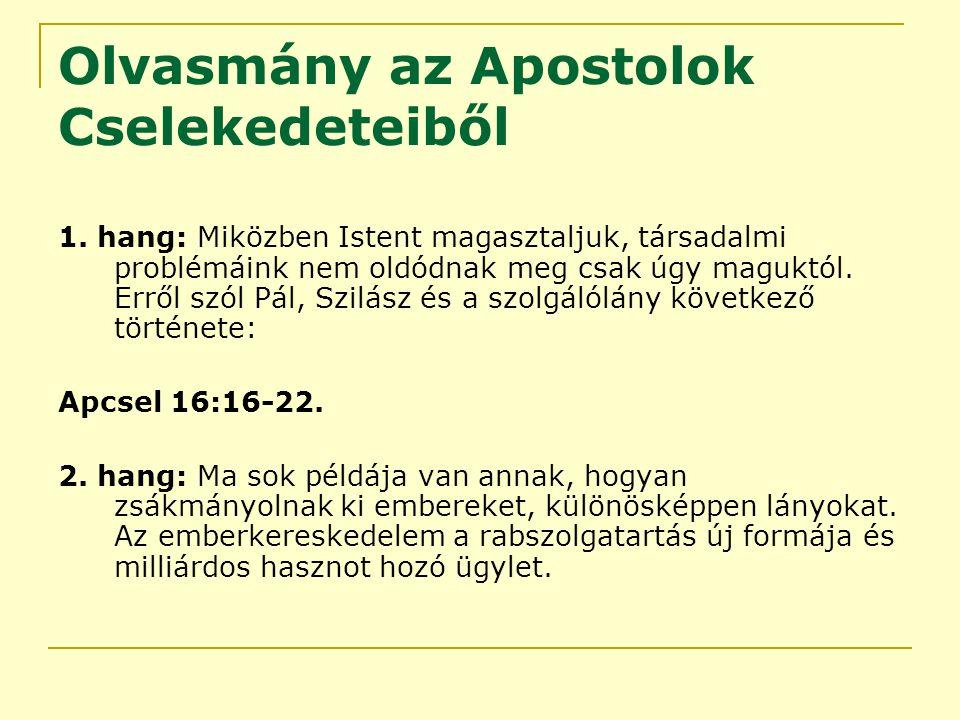 Olvasmány az Apostolok Cselekedeteiből