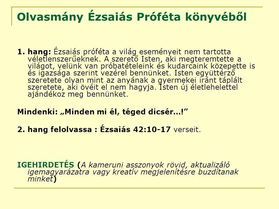 Olvasmány Ézsaiás Próféta könyvéből