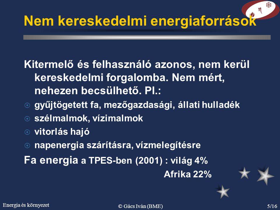 Nem kereskedelmi energiaforrások