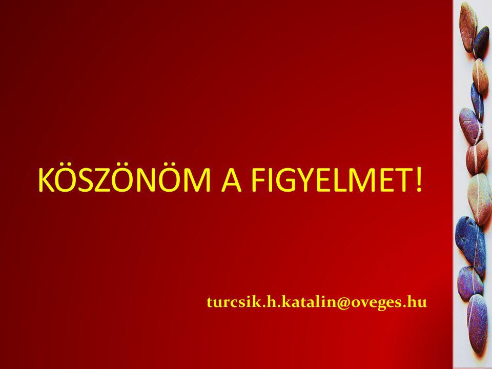 KÖSZÖNÖM A FIGYELMET! turcsik.h.katalin@oveges.hu