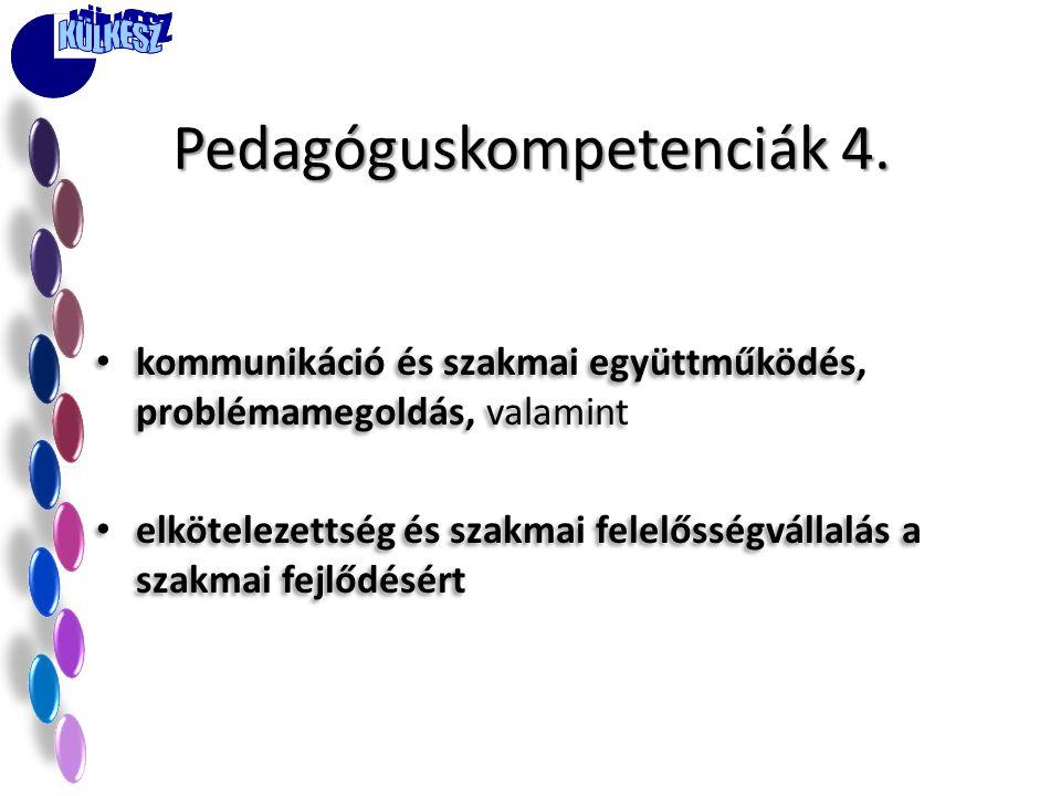Pedagóguskompetenciák 4.
