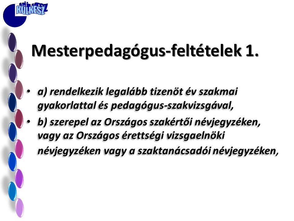 Mesterpedagógus-feltételek 1.