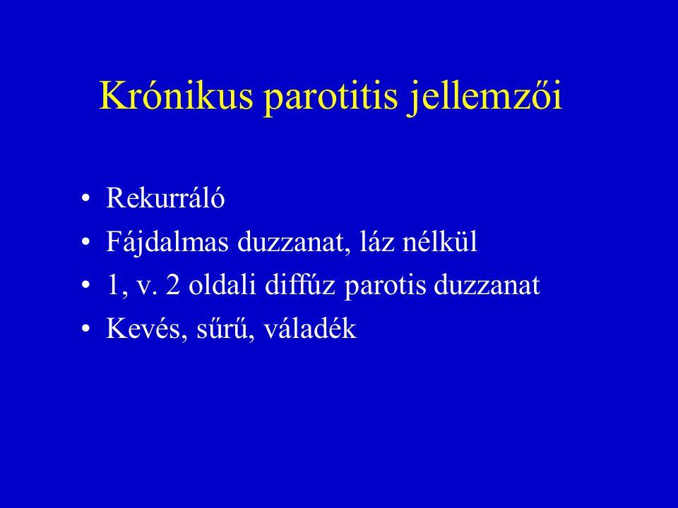 Krónikus parotitis jellemzői