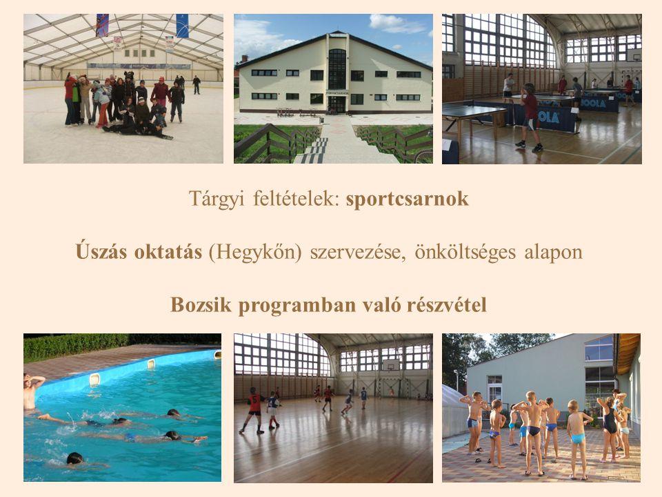 Bozsik programban való részvétel