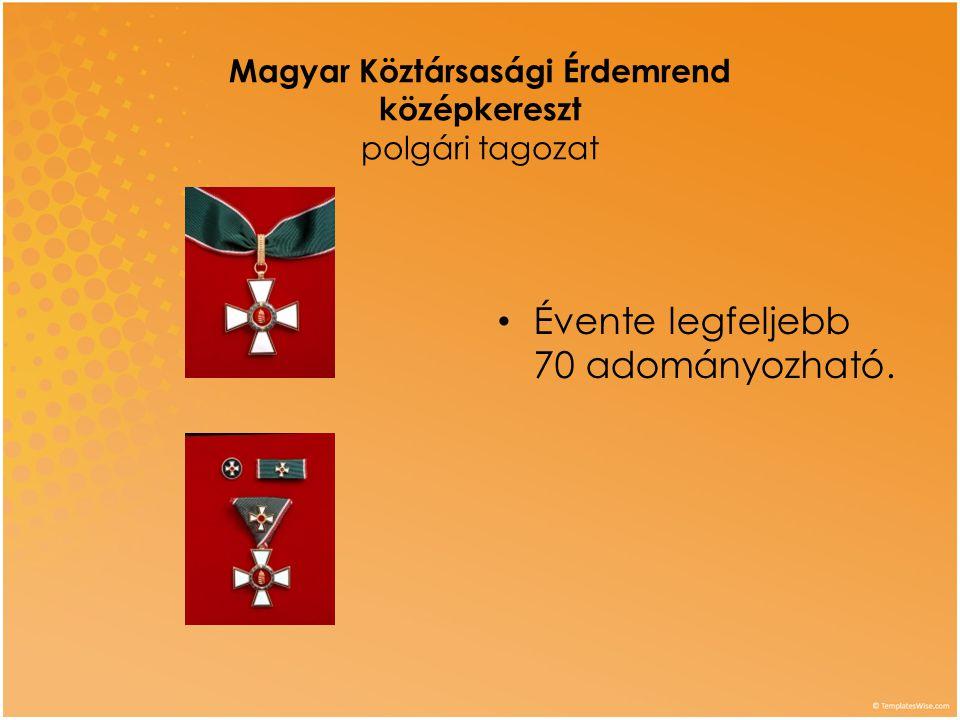 Magyar Köztársasági Érdemrend középkereszt polgári tagozat