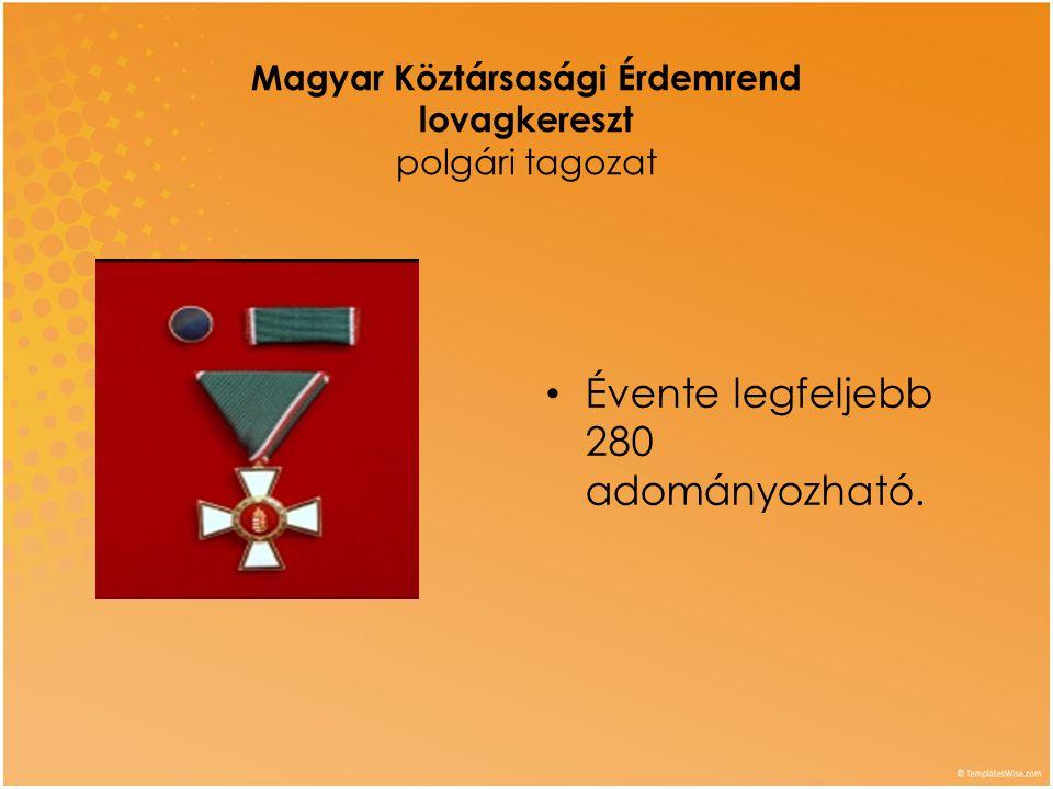 Magyar Köztársasági Érdemrend lovagkereszt polgári tagozat