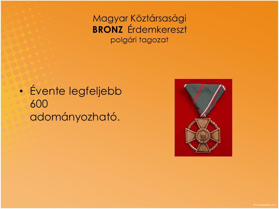 Magyar Köztársasági BRONZ Érdemkereszt polgári tagozat