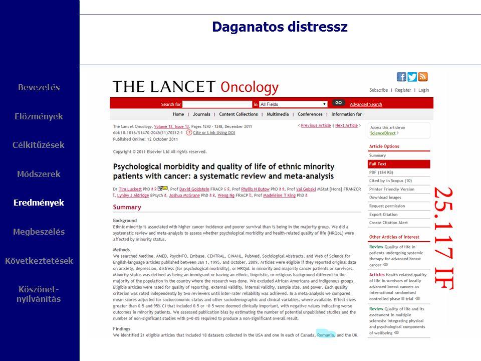 Daganatos distressz Bevezetés Előzmények Célkitűzések Módszerek
