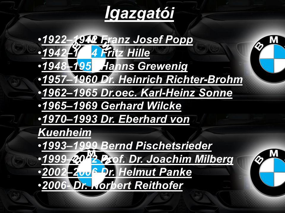 Igazgatói 1922–1942 Franz Josef Popp 1942–1944 Fritz Hille