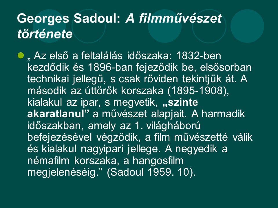 Georges Sadoul: A filmművészet története
