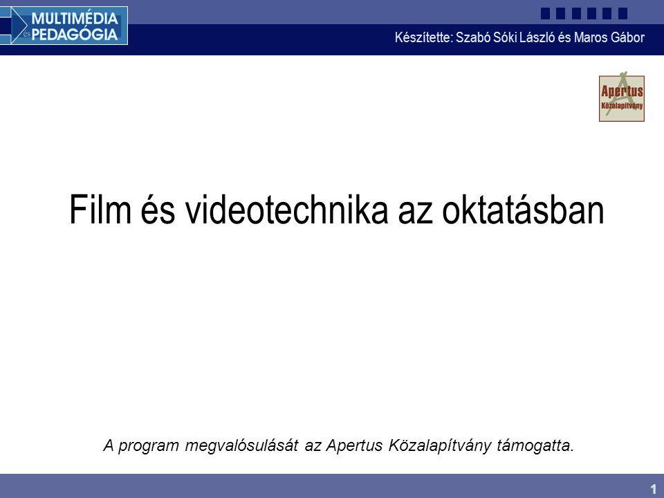 Film és videotechnika az oktatásban