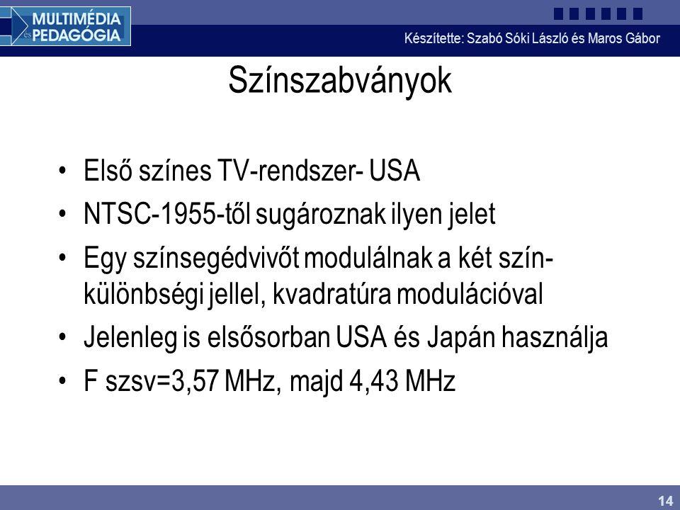 Színszabványok Első színes TV-rendszer- USA