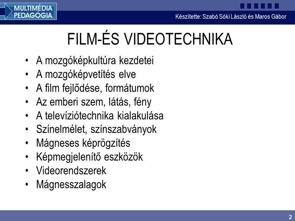 FILM-ÉS VIDEOTECHNIKA