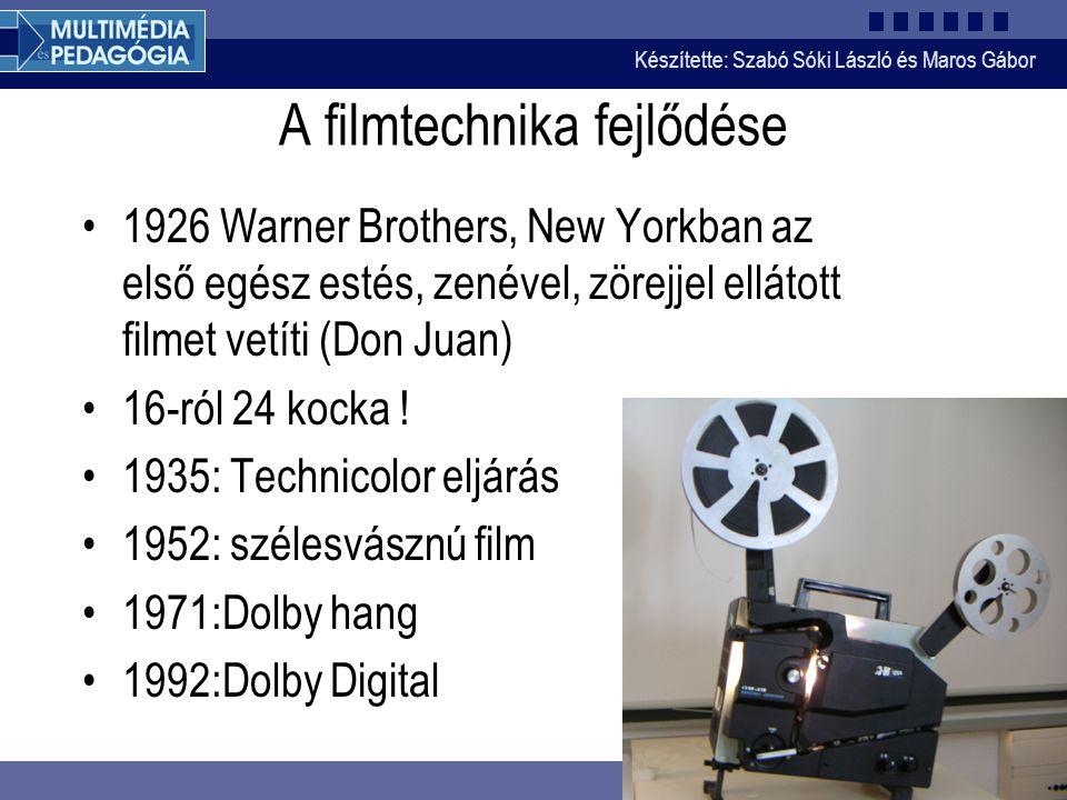 A filmtechnika fejlődése