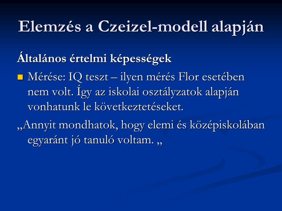 Elemzés a Czeizel-modell alapján