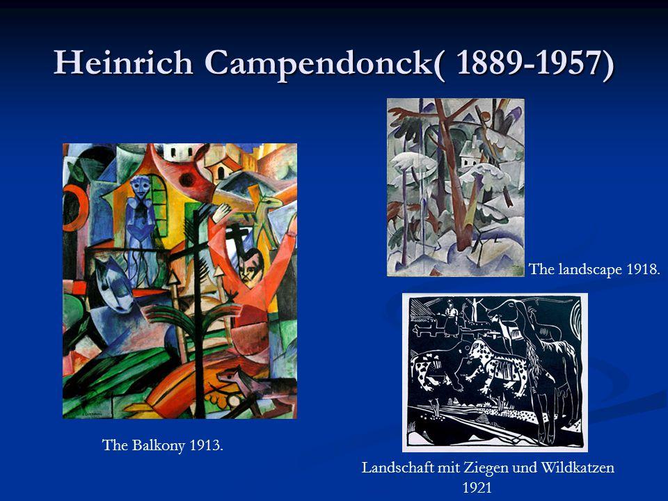 Heinrich Campendonck( 1889-1957)