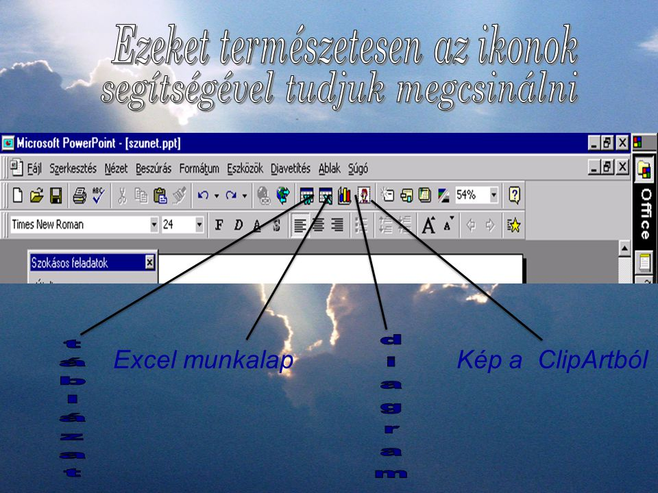 Excel munkalap Kép a ClipArtból