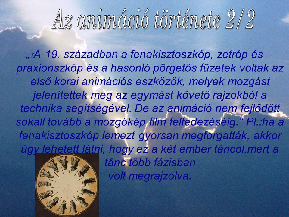 Az animáció története 2/2