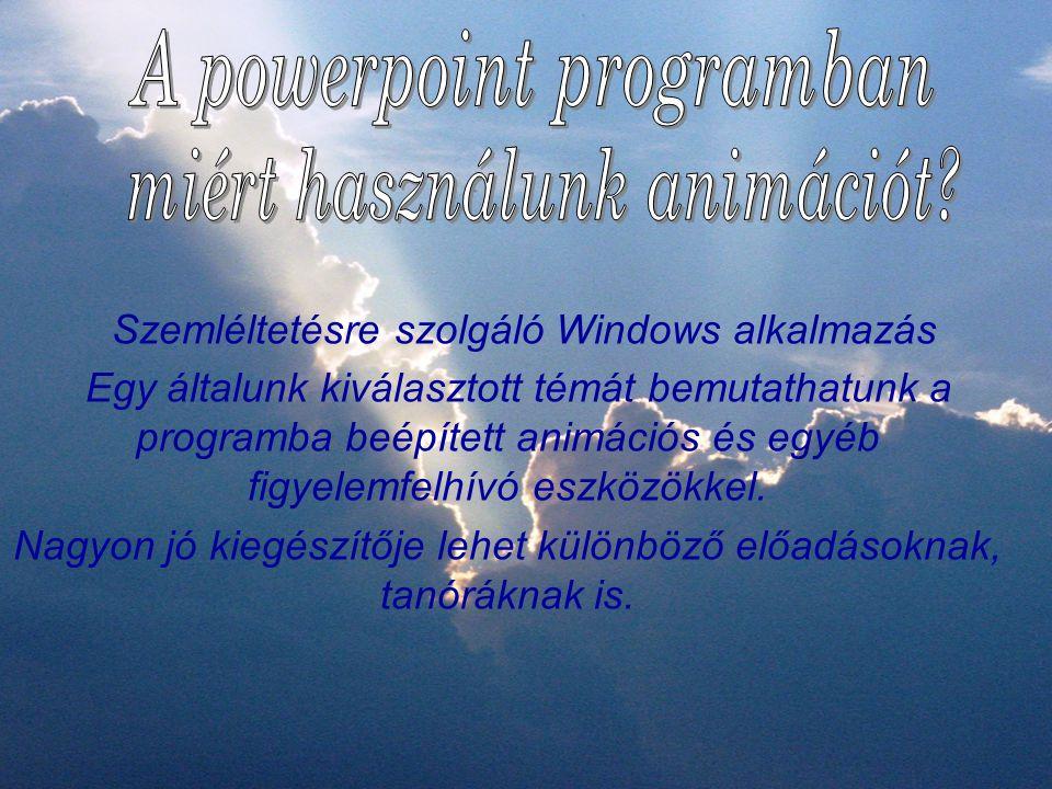 A powerpoint programban