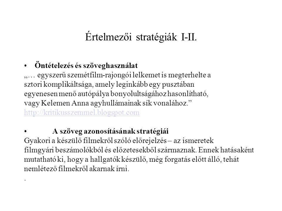 Értelmezői stratégiák I-II.