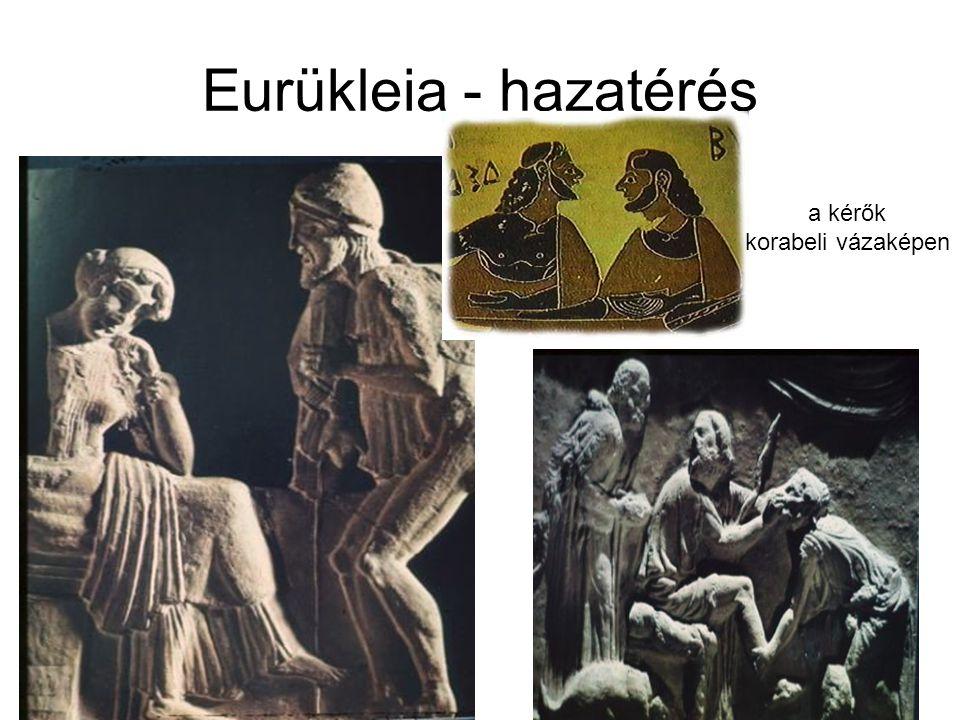 Eurükleia - hazatérés a kérők korabeli vázaképen